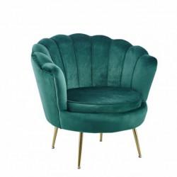 Fotel velvet zielony LC-032-1