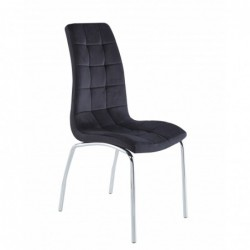 Krzesło velvet czarne DC2-092V