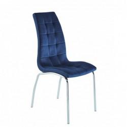 Krzesło velvet niebieskie...