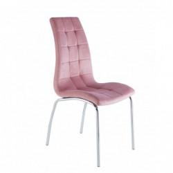 Krzesło velvet różowe DC2-092V