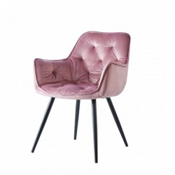 Krzesło velvet różowe HF-058