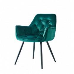 Krzesło velvet zielone HF-058