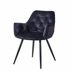 Krzesło velvet czarne HF-058