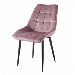 Krzesło velvet różowe J262-1