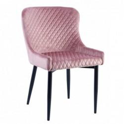 Krzesło velvet różowe MC-15