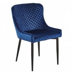 Krzesło velvet niebieski MC-15