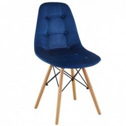 Krzesło velvet niebieski...