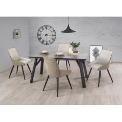 Stół HALIFAX beton/czarny Halmar