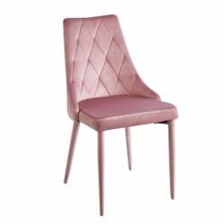 Krzesło velvet różowe MC-01-2