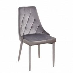 Krzesło velvet szare MC-01-2