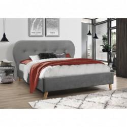 Łóżko 160x200 velvet szare...
