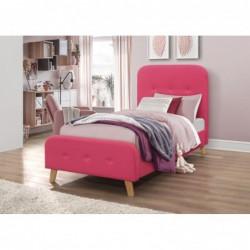 Łóżko 90x200 velvet różowe...