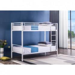 Łóżko piętrowe biały BND006