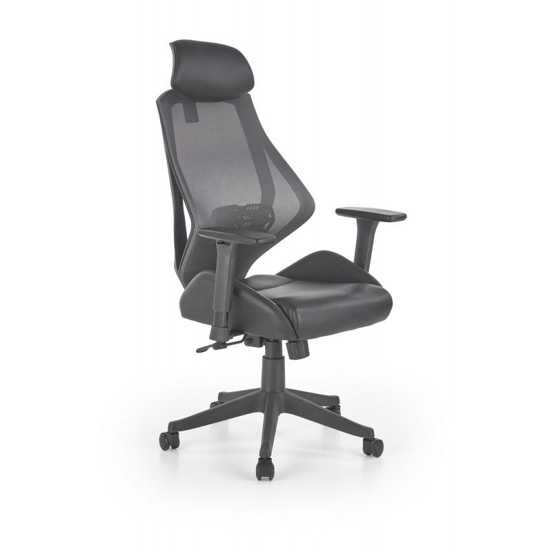 HASEL fotel gabinetowy czarny / popiel