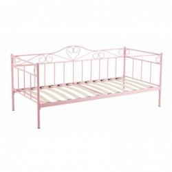 Łóżko metalowe różowe MBD8509