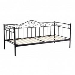 Łóżko metalowe czarne MBD8509