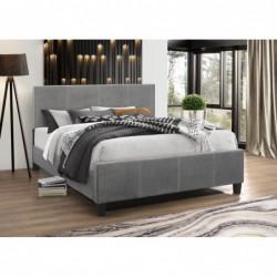 Łóżko 140x200 velvet szare...