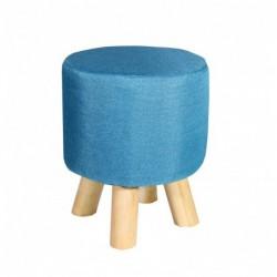 Pufa niebieski materiał