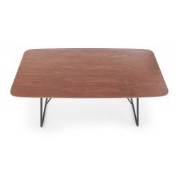 HOUSTON stół orzech / czarny
