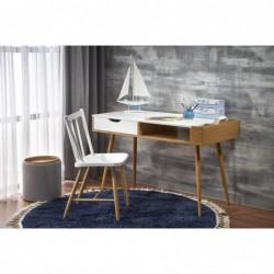 B45 biurko biały/dąb złoty
