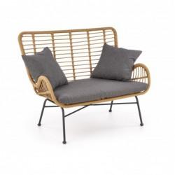 IKARO XL sofa naturalny-popiel