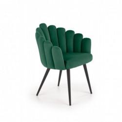 K410 krzesło c. zielony velvet