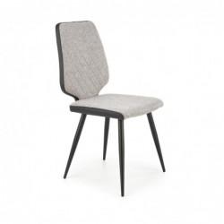 K424 krzesło popielaty/czarny
