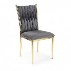 K436 krzesło popielaty/złoty