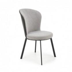 K447 krzesło popielaty/czarny