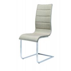 K104 krzesło beżowy/biały tkanina