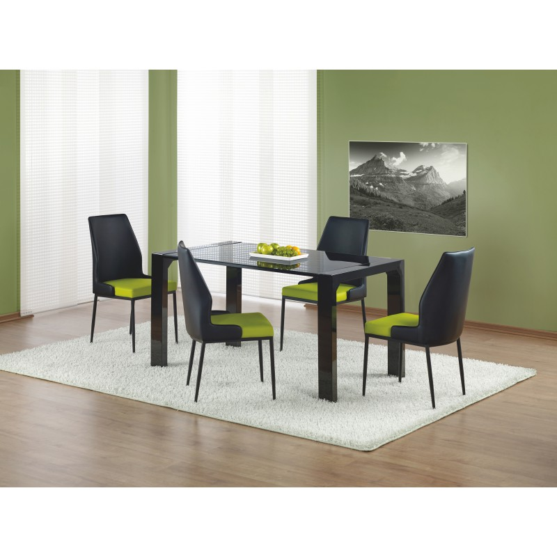 KEVIN stół czarny lakierowany