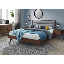 ORLANDO łóżko popielaty / orzech