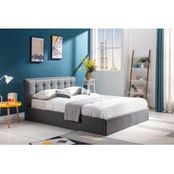 PADVA 160cm łóżko z pojemnikiem popielaty