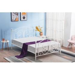 PANAMA 120 cm łóżko metalowe biały