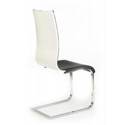 K104 krzesło czarny/biały ekoskóra