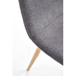 K220 krzesło tapicerka - popiel, nogi - dąb miodowy
