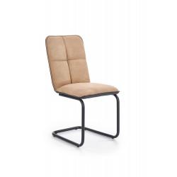 K268 krzesło jasny brąz / czarny
