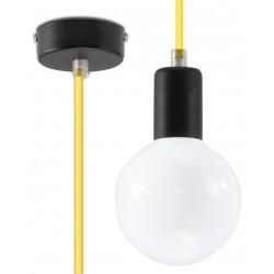 Lampa Wisząca EDISON Żółta