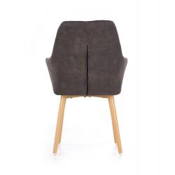 K287 krzesło ciemny brąz