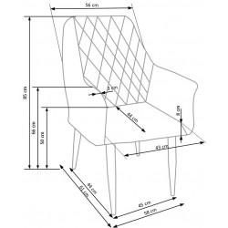 K287 krzesło granatowy