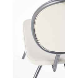 K298 krzesło jasny popiel / grafitowy