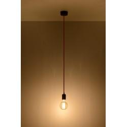 Lampa Wisząca EDISON Czarno-Czerwona