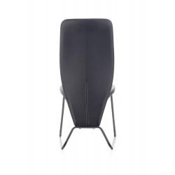K300 krzesło tył - czarny, przód - popiel, stelaż - super grey