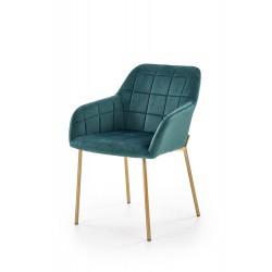 K306 krzesło złoty / ciemny zielony