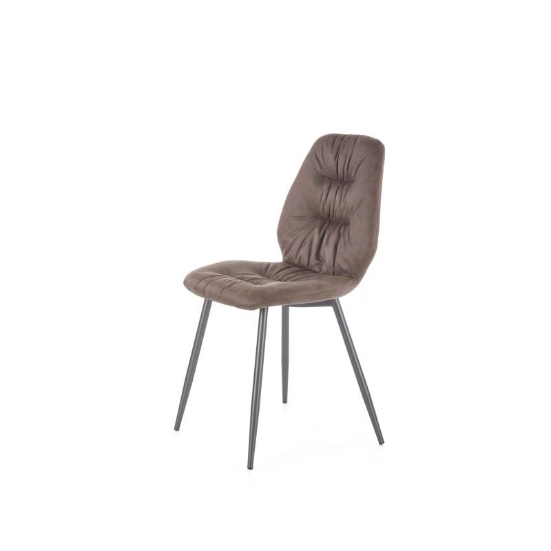 K312 krzesło nogi - czarne, tapicerka - brązowa