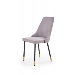K318 krzesło tapicerka - popielaty, nogi - czarny / złoty