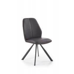 K319 krzesło brązowy / czarny