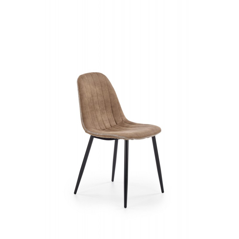 K328 krzesło nogi - czarny, tapicerka - ciemny beż