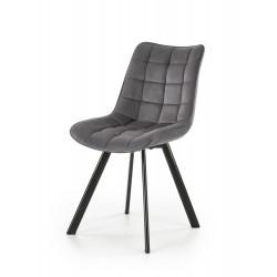 K332 krzesło nogi - czarne, siedzisko - ciemny popiel
