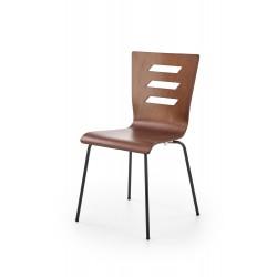 K355 krzesło nogi - czarne, sklejka - orzech